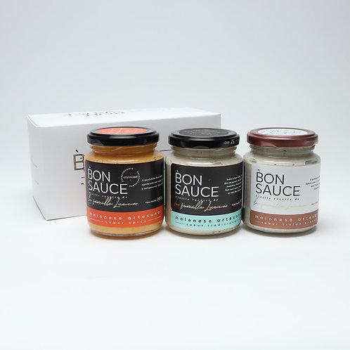 Kit Bon Sauce com 3 sabores: Tradicional, Trufada e Spicy