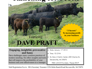 Bitterroot Stockgrowers Presents:  Dave Pratt