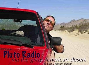 Lee in car in desert x plutoradio.comRad