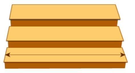 ความกว้างของบันไดควรมีอย่างน้อย 80 เซ็นติเมตร
