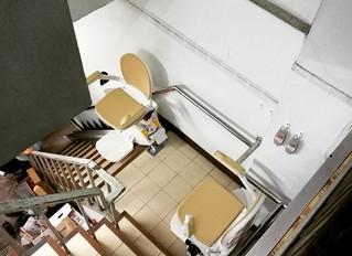 ลิฟท์บันได 2 ชุด สำหรับบันไดมีชานพัก