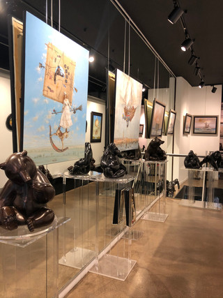 Personal exhibition of 30 bronzes and marbles at the Sakah Gallery, in Toulouse