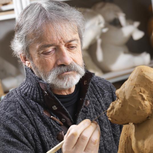 Michel Bassompierre - Modelage en argile