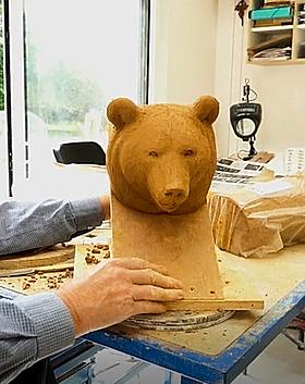sculpture en argile par Michel Bassompie