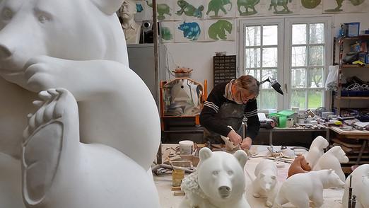 Michel Bassompierre in his studio