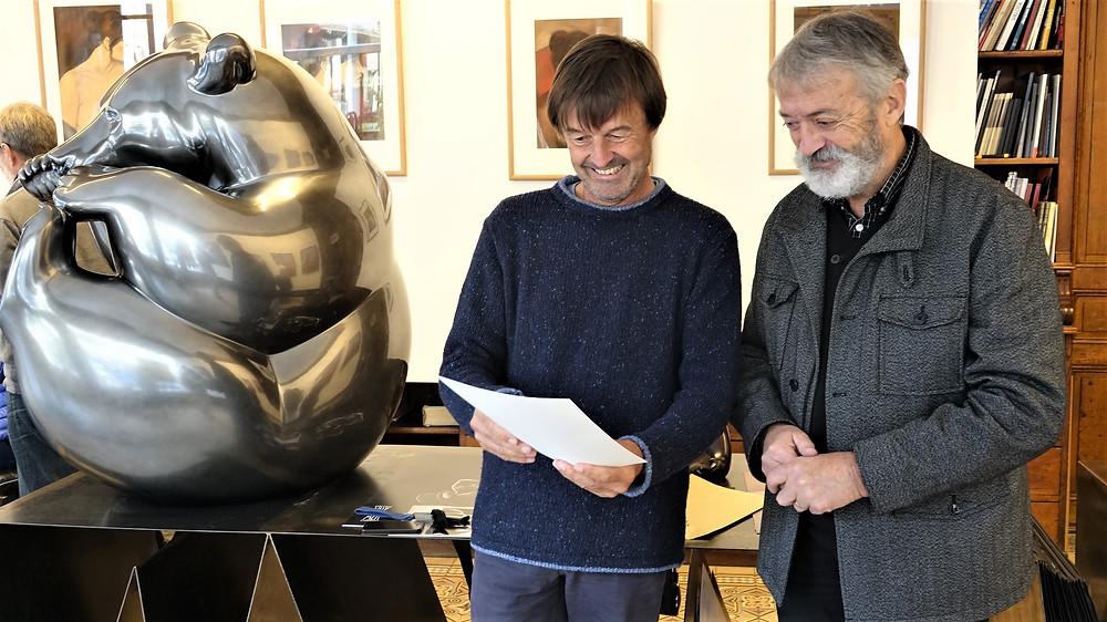 Michel Bassompierre et Nicolas Hulot