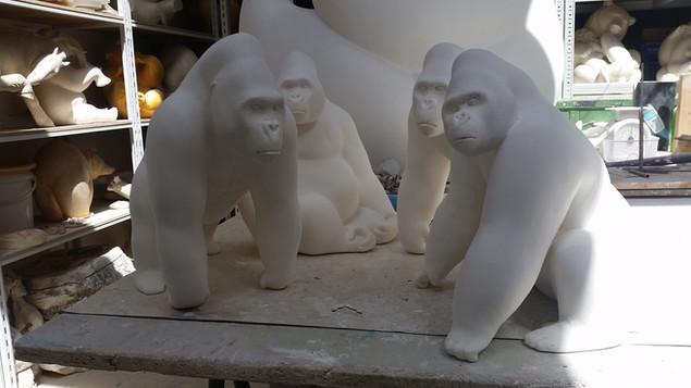 épreuves en plâtre de gorilles