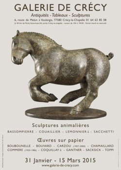 Michel BASSOMPIERRE exhibition at the Crecy gallery