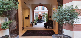 The honey bear n ° 5 installed in the hotel de la Cour des Consuls in Toulouse