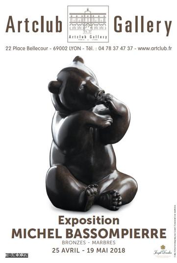 Michel BASSOMPIERRE exhibition at the Artclub Lyon gallery