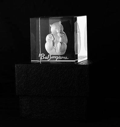 """Impression 3D """"Le Miel n°5"""" dans un cube en verre"""