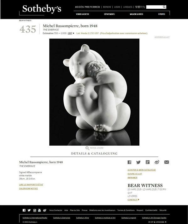 Vente marbre BASSOMPIERRE chez Sotheby's Londres 2015