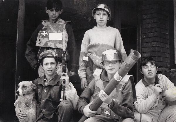 Les enfants, 1993, Sarajevo, Andrej Derk