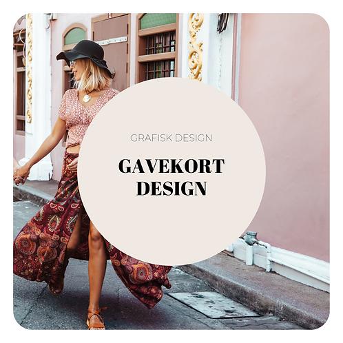 Gavekort design
