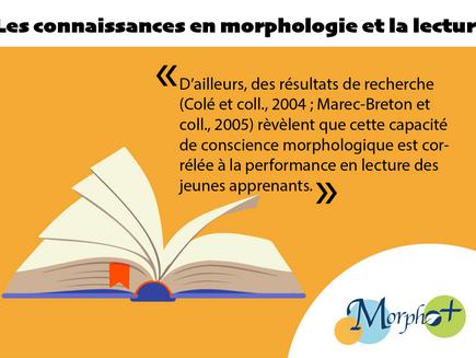 Les connaissances en morphologie et la lecture