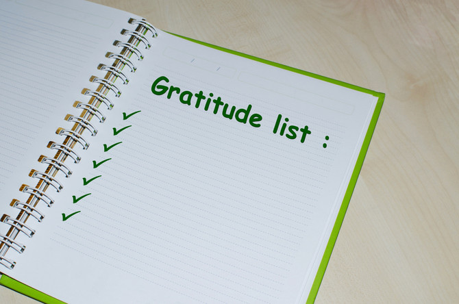 Your Gratitude List - WAG Day 1