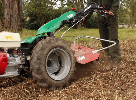 Motocultor en cultivos Orgánicos