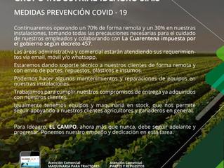 COMUNICADO OFICIAL MEDIDAS DE PREVENCIÓN COVID 19
