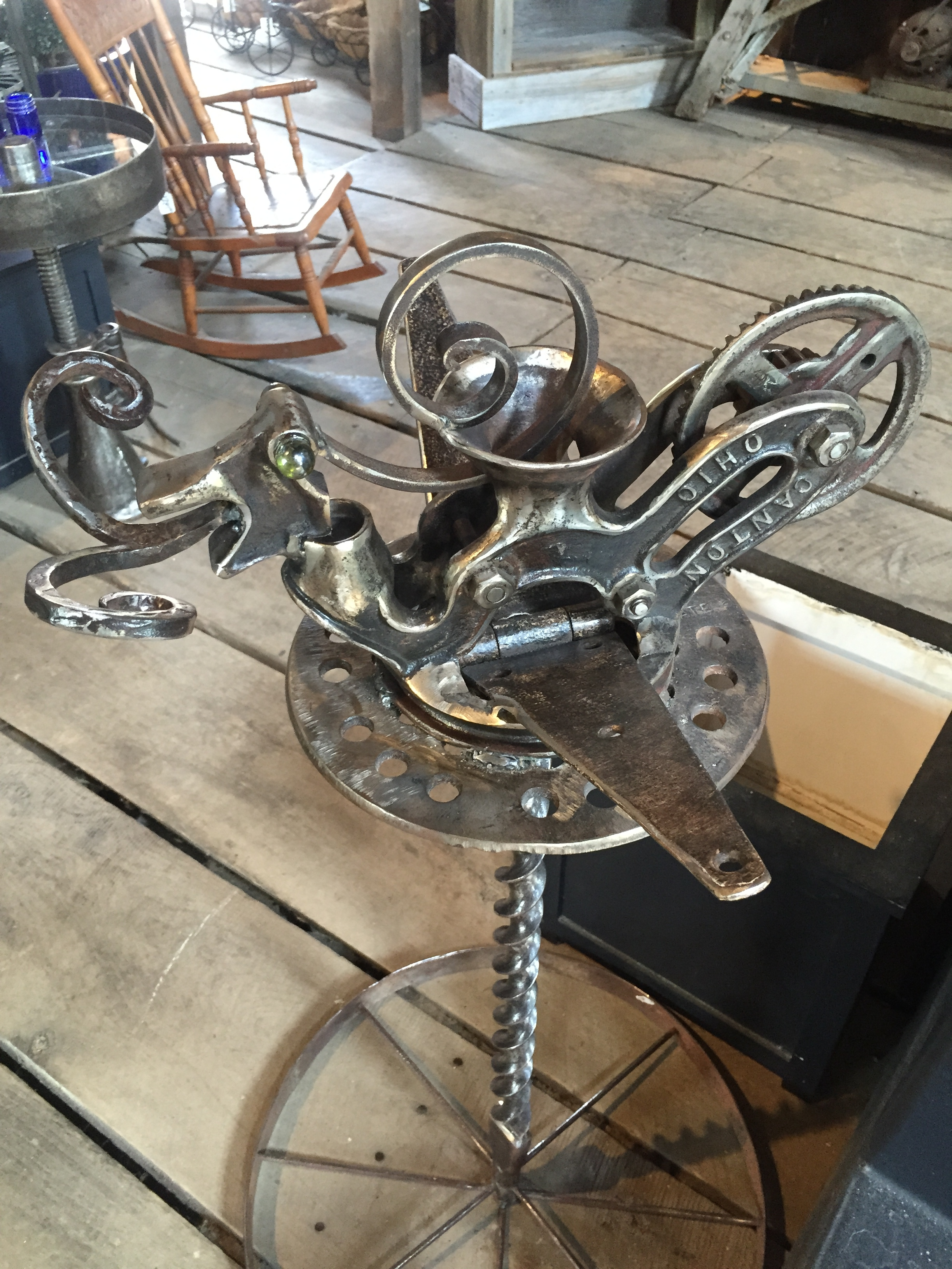 Snail steampunk sculpture