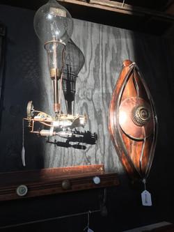 Steampunk mobile sculpture