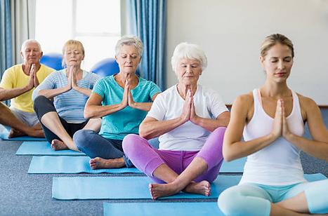 Yoga pra Terceira Idade: momento para interiorizar