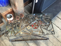 Scattered tools coffee table