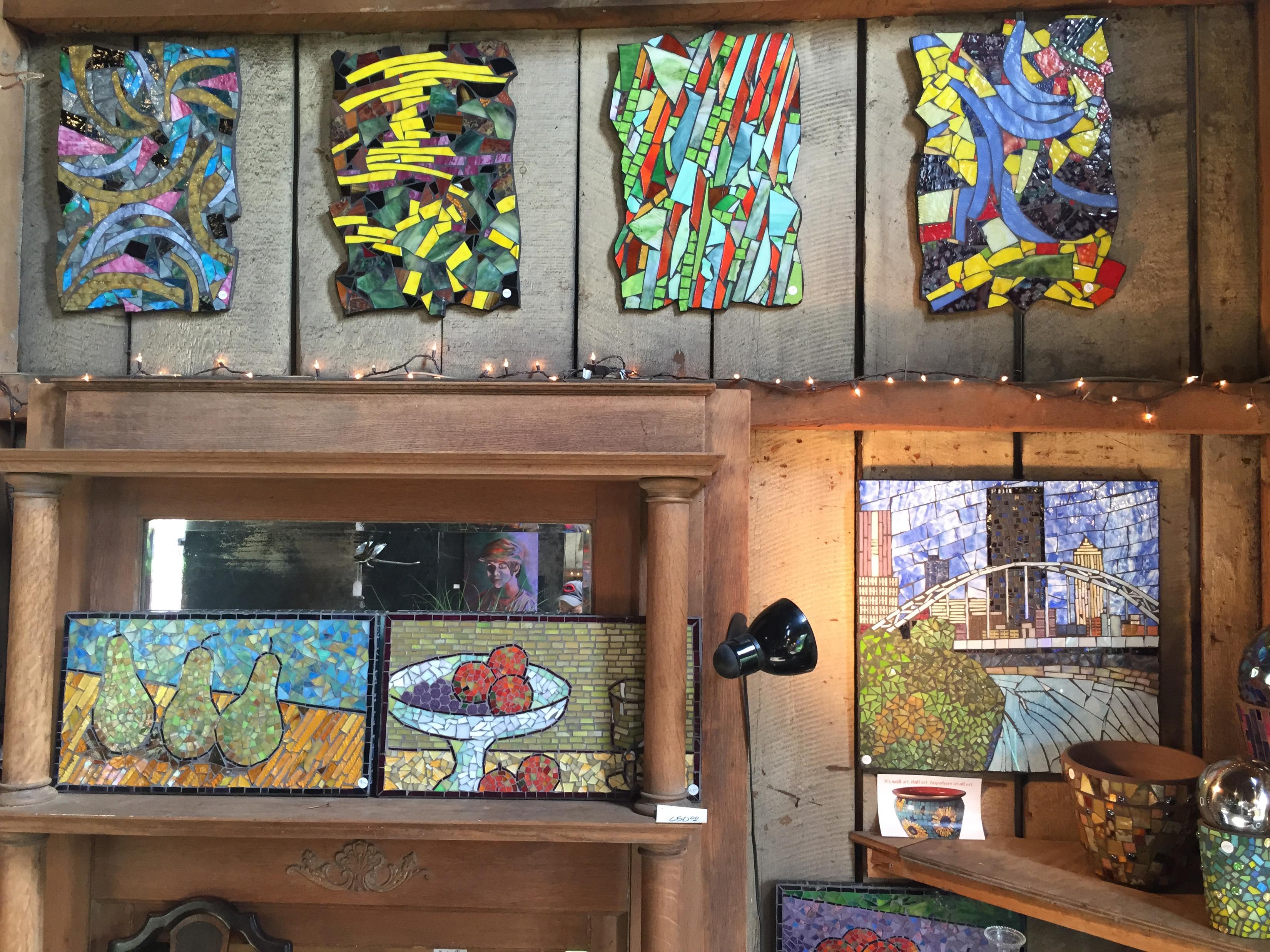 Assorted mosaics by Steve-O