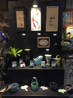 Chinese brush painting & ceramics