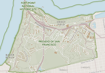 San Francisco Presidio Map