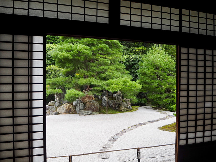 konchi-in buddhist temple kyoto japan rock garden