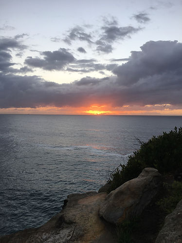 meditate at bondi to bronte trail walk sunrise