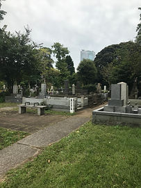 Aoyama Cemetery In Tokyo bench