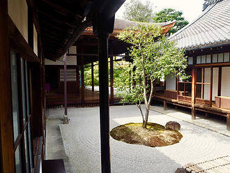 Kennin-ji Temple Kyoto (square circle triangle garden)