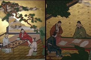 shunko-in buddhist temple kyoto japanese screen art