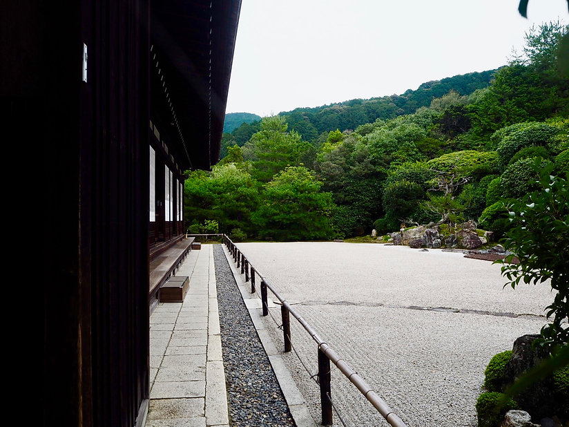 konchi-in buddhist temple kyoto japan rock garden and main hall