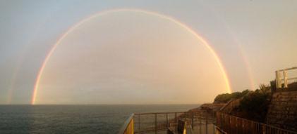 bondi to bronte walk waverly cemetery storm double rainbow