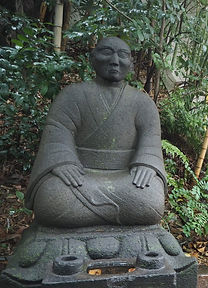 ZEN buddhist meditator tokyo statue
