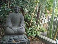 seisho-ji japanese buddhist temple tokyo garden meditator statue