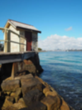 sydney harbor south head camp cove boathouse