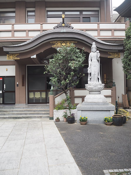 Nago-ji Temple, shinjuku, Tokyo, Japan entrance