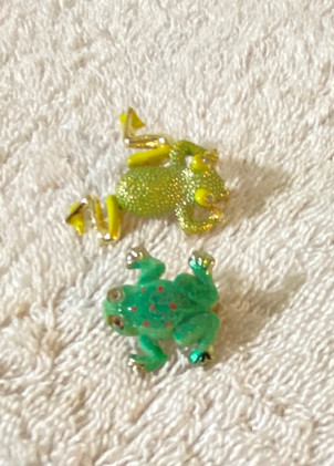 Set of Two Cute Frog Pins