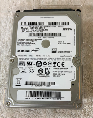 Samsung SpinPoint 750GB Hard Drive