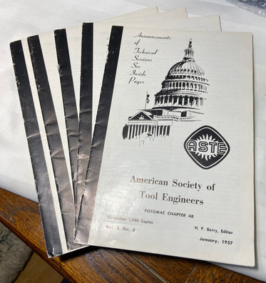 4 Issues of American Society of Tool Engineer 1957
