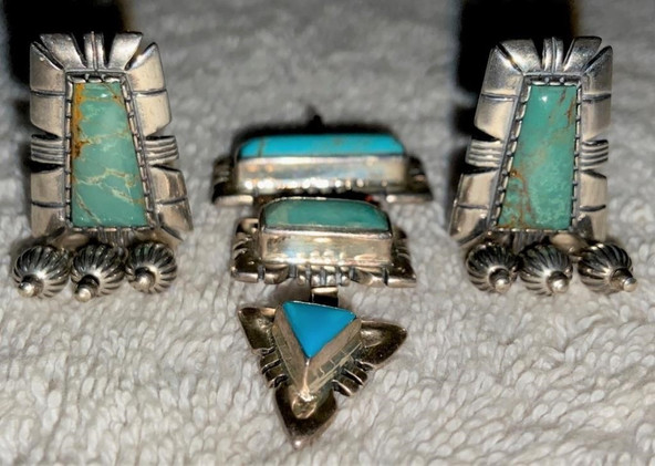 Carolyn Pollack Drop Pendent W/ Matching Earrings