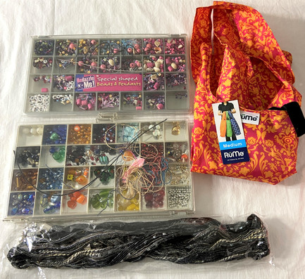 Beading Lot and RuMe Tote