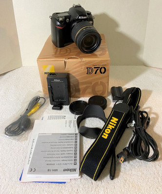 Nikon D70 With Box and Tamron Lens & Accessories