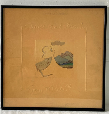 Joni Mitchell Court and Spark Framed Album