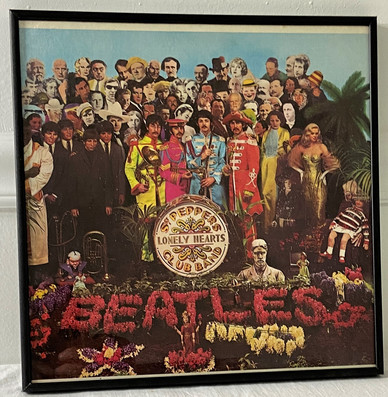1967 Beatles Sgt. Pepper's Lonely Hearts Club Band Framed Album