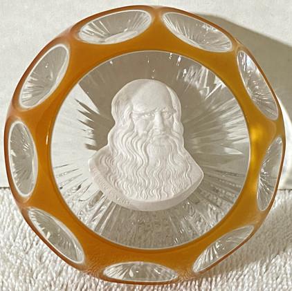 Leonardo Da Vinci Cristal D'Albret Paperweight