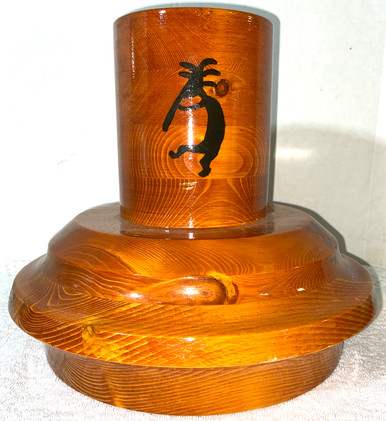 Unusual Native American Themed Wine Holder or Center Piece